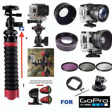 GOPRO HERO6 WIDE ANGLE MACRO LENS+TELEPHOTO ZOOM LENS+ FLEX TRIPOD + FILTER KIT