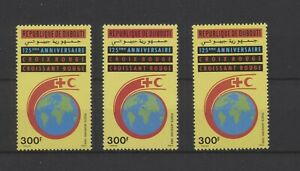 [P25199] Djibouti 1988 Red Cross good very fine MNH airmail stamp X3