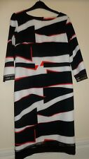 Womens Dress SIze 12 Bellenisa Blacl/Red/White Black Lace Trim