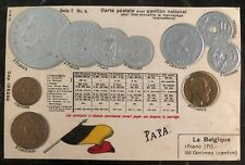 1913 Bruxelles Belgium Coins Postcard Cover Domestic Used
