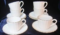 Spode Corinth Gold Bone China Coffee Cups & Saucers - Set of 6 - Y8013 - England