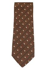 NEW Armani Collezioni Men's 100% Silk Neck-Tie Brown/Dark Green/Beige Striped