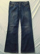 Silver jeans women tina 30 x 33 stretch low rise boot flare Whisker DISTRESS