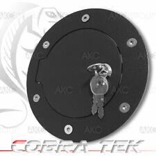Cobra Tek For 2007-2013 Sierra Silverado Key Lock Black Aluminum Fuel Gas Door