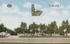 Postcard Motel Village Green Sylvania Georgia GA