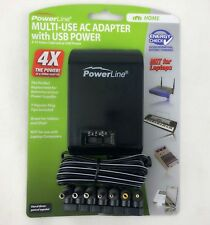 Powerline Car Cord Adapter with USB Power 3-12 VOLTS/2000 mA