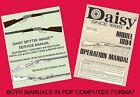 Daisy 1894 Spittin' Image  Re-drawn Service  Operator Manuals on Micro SD Card