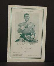 Chicago Auditorium Theatre Program Lawerence Tibbet Grand Opera 1933 F1#11