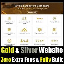 Website - Gold & Silver - Online Internet Business - For Sale - Fully Built