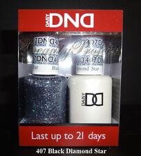 DND Daisy Soak Off Gel Polish Black Diamond Star 407 full size 15ml LED/UV duo