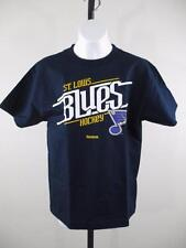 New NHL St. Louis Blues Youth Medium M 10-12 Reebok Navy Blue Shirt