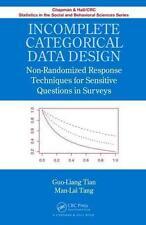 Incomplete Categorical Data Design  BOOKH NEU