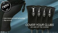 3 4 5 6 Golf Clubs Complete Full Set New Thick Neoprene Black Hybrid Head Covers