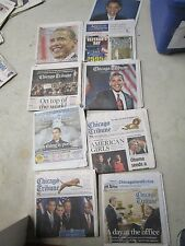 obama lot of 8 Chicago Tribune PRESIDENT OBAMA newspapers keepsakes 2008 2009