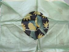 Pair Antique 1930s Pre-Stamped Quilted Boudoir Pillows To Embroider & Quilt Bird