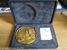 Grosse médaille bronze-coffret velours-la cavalerie-Gravée-Pichard Balme