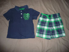 Carter's boys' T-shirt polo top & shorts set - 24 months (18-24 months) - EXC