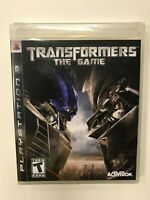 Transformers The Game PS3 Brand New Factory Sealed Complete CIB Playstation 3