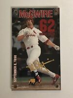 Gold Signature Card Mark McGwire Home Run Authentic Images Washington Mint 24K