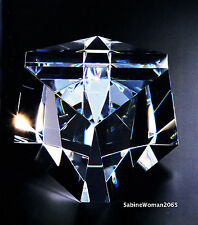 BIG NEW in BOX STEUBEN art glass CUBIQUE CUBE ornament paperweight PRISM galaxy