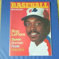 MONTREAL EXPOS 1980 program vol 12 no 2 RON LEFLORE Cover  ANDRE DAWSON center