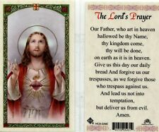 Lord's Prayer Laminated Card Our Father Who Art in Heaven Hallowed Be Thy Name