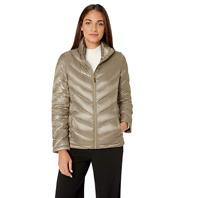 Calvin Klein Women's Down Lightweight Puffer Packable Jacket Silver Size XL $170