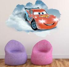NEW Disney lightning McQueen Cars 3D HUGE Wall Stickers Kids Home Decor USA