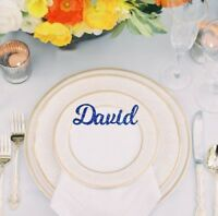 Personalised wedding place Name Place Setting birthday seating arrangement names