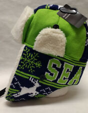 Seattle Seahawks Team Color City Name Trooper Hat - Warm and Well Made!!! WOW!!
