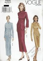 Pattern Vogue Woman Sewing Fitted Top Skirt 3 Styles  Sz 12-16 OOP NEW