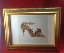 Andy WARHOL High Heeled Shoe Repro Print in New Gold Painted Wood Frame Book Art