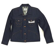New Wrangler ICONS 124WJ Women's Western Jacket Rigid Blue Denim S M L