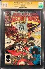 CGC 9.8 MICHAEL ZECK JOHN BEATTY Signed SPIDER-MAN ORIGINAL Sketch SECRET WARS