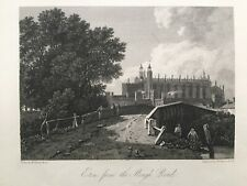 1803 Antique Print; Eton from the Slough Road after J.M.W. Turner
