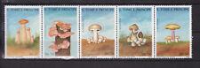 Sao Tome and Principe : Fungi / Mushrooms ( 5 v. ) 1988 MNH