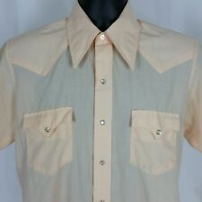 Chute #1 Shirt Short Sleeve Pearl Snap Buttons Vintage Peach Mens Size L