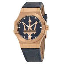 Maserati Potenza Blue Dial Blue Leather Men's Watch R8851108027
