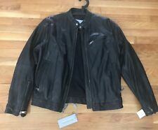 $780 Marc New York Andrew Marc Men Black Classic Moto Lamb Leather Jacket sz S