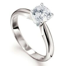 0.75CT SOLITAIRE DIAMOND 4 TULIP CLAW 18CT WHITE GOLD ENGAGEMENT RING 3/4CT 750