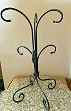 Longaberger Foundry Collection Wrought Iron Cup Mug Tree Stand