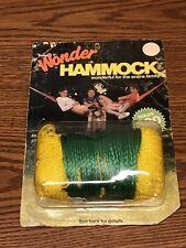 Vintage Wonder Hammock Yellow Nylon With Eye Screws Holds 300 lbs New