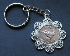 WW2 1942 75th birthday Lucky Farthing Pendant Charm key ring present + gift box