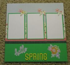 Premade Scrapbook Page Layout~ 12 by 12 Hello Spring