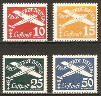 DR Danzig Nazi Reich Rare WW2 Stamp 1938 Airmail Aircraft Flugpost Classic Avia