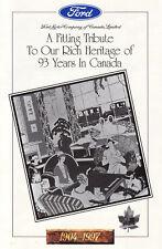 FORD CANADA 93 Years Jahre History Prospekt Brochure 1904 1997 /18