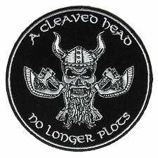 Embroidered A Cleaved Head no Longer Plots Sew or Iron on Patch Biker Patch