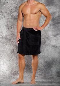 Men's 100% Cotton Terry Velour Cloth Bath Towel Body Wrap Spa Soft Adjustable