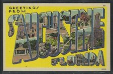 """Florida Large Letter Postcard - """"Greetings from St. Augustine"""""""
