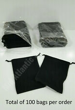 100 Black Jewelry Pouches Gift Bags Favors Wedding Birthday Drawstring